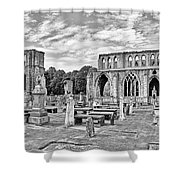 Ruins Of A Cathedral, Elgin Cathedral Shower Curtain