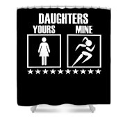 Runner Mom Dad Gift Parent Of Track And Field Daughter Shower Curtain