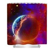 Ruptured Moon Shower Curtain