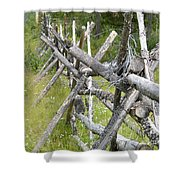 Russel Fence Shower Curtain by Ann E Robson