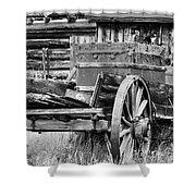 Rustic Horse Drawn Cart Shower Curtain