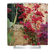 Rustic Life - Flowers Shower Curtain