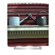 Rustic Watering Cans  Shower Curtain