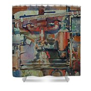 Rusty Engine  Shower Curtain