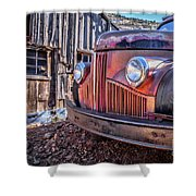 Rusty Old Truck In A Ghost Town In Arizona Shower Curtain