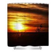 Rusty Sunset Shower Curtain