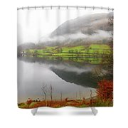 Rydal Water On A Misty Day In December Shower Curtain