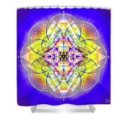 Sacred Geometry 731 Shower Curtain