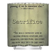 Sacrifice 8722 Shower Curtain
