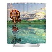 Sailing Away Daydream Steampunk Custom Shower Curtain