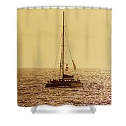 Sailing In The Sunlight Shower Curtain