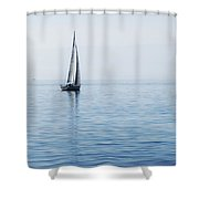 Sailing Into The Mists Shower Curtain by Jeremy Hayden