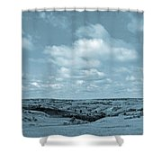 Sailing Over Slope County Shower Curtain