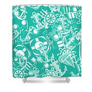 Sailing Scenes Shower Curtain