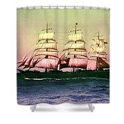 Sailing Ship Balclutha  Shower Curtain by Robert G Kernodle