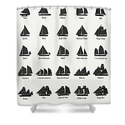 Sailing Vessel Types And Rigs Shower Curtain