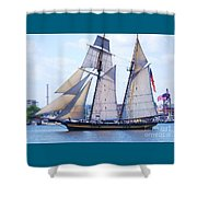 Sailing With Pride Shower Curtain
