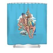 Sailor On Anchor Shower Curtain