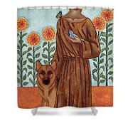 Saint Francis And The Wolf Of Gubbio Shower Curtain