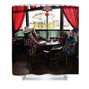 Saloon 1880 Town South Dakota Shower Curtain by Gerlinde Keating - Galleria GK Keating Associates Inc