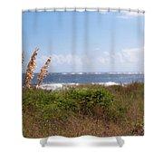 Salty Island Breeze Over Breach Inlet Shower Curtain