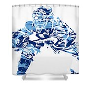 Salvador Perez Kansas City Royals Pixel Art 1 Shower Curtain