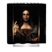 Salvator Mundi After Leonardo Da Vinci Shower Curtain