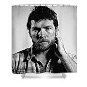 Sam Worthington Shower Curtain