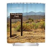 San Andreas Fault Shower Curtain