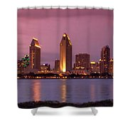 San Diego Panorama Shower Curtain