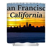 San Francisco Sunrise 2x3 Shower Curtain