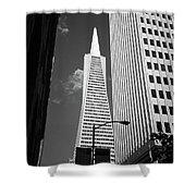 San Francisco - Transamerica Pyramid Bw Shower Curtain