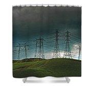 San Joaquin Valley Power Grid Shower Curtain
