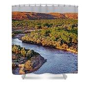 San Juan River At Sunrise Shower Curtain