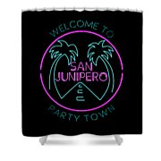 San Junipero Shower Curtain