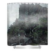 San Marino At Dawn Shower Curtain by Jaroslaw Blaminsky