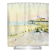 Sand Dunes At Ocean City Beach Maryland Shower Curtain