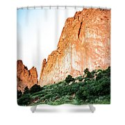 Sandstone Rock Formations In Colorado Shower Curtain by Kyle Lee