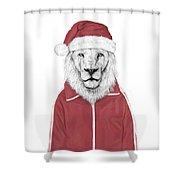 Santa Lion  Shower Curtain
