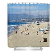 Santa Monica Beach Shower Curtain