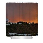 Santuario De Nossa Senhora Da Piedade At Sunset In Loule Shower Curtain