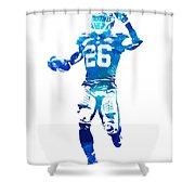 Saquon Barkley New York Giants Water Color Pixel Art 10 Shower Curtain