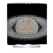 Saturnian Image 4 Shower Curtain