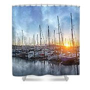 Sausalito California Morning Airs Shower Curtain