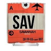 Sav Savannah Luggage Tag I Shower Curtain