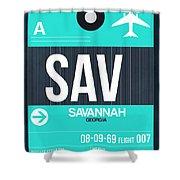Sav Savannah Luggage Tag II Shower Curtain