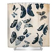 Scrapbook Butterflies Shower Curtain