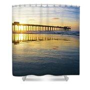 Scripps Pier Golden Hour 1 Shower Curtain