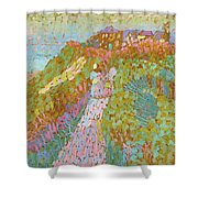 Sea And Dunes In Domburg Shower Curtain