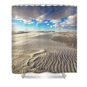 Sea Of Sand - Endless Dunes At White Sands New Mexico Shower Curtain